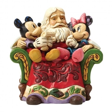 Christmas Wishes (Santa with Mickey & Minnie Mouse Figurine)
