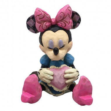 Minnie Mouse with Heart Mini Figurine