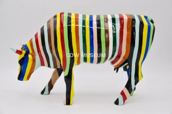 Striped (medium ceramic) Cow figurine