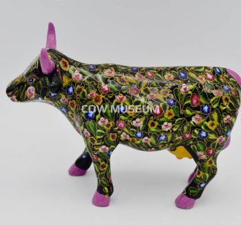 Flower Power Cow (medium ceramic)