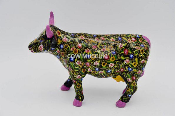 Flower Power Cow (medium ceramic)