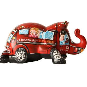 Chiangmai Red Bus figurine