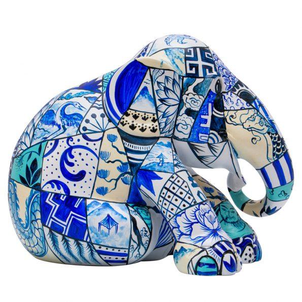 Porcelain Patchwork figurine