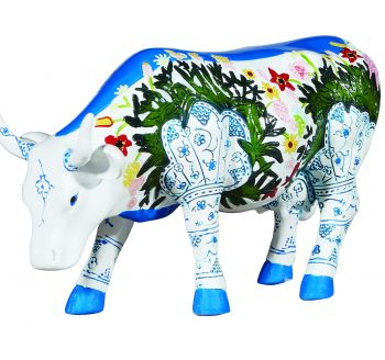 Musselmalet (Medium resin) Cow figurine