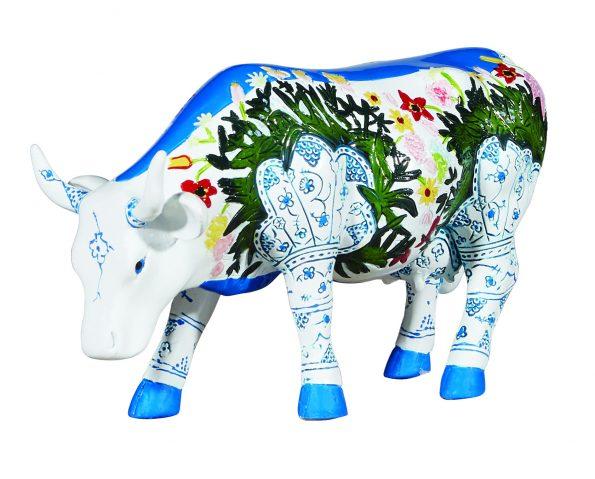 Musselmalet (Medium resin) Cow figurine