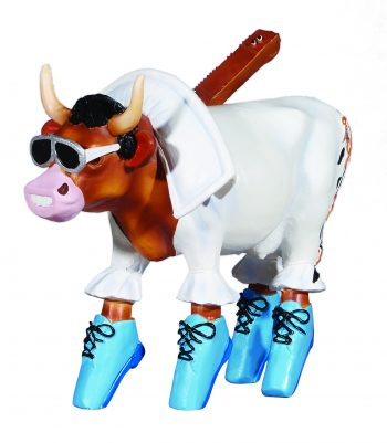 Rock 'n Roll (Medium resin) Cow figurine