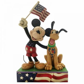 A Banner Day (Mickey and Pluto Patriotic Figurine)