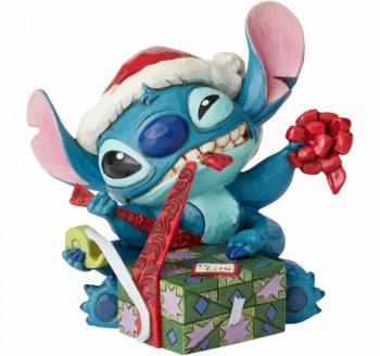 Bad Wrap (Stitch with Santa Hat Figurine)